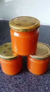hasenfrühstückkarottenapfelorangenmarmeladekarinam